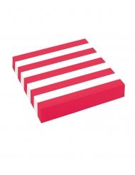 20 tovaglioli di carta a righe bianche e rosse