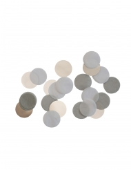 Coriandoli da tavola grigi e bianchi
