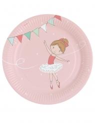 8 piatti in cartone piccola ballerina 23 cm