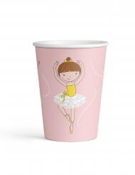 8 bicchieri in cartone piccola ballerina
