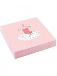 20 tovaglioli di carta rosa piccola ballerina