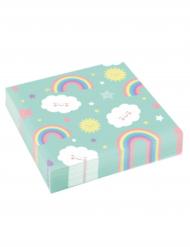 20 tovaglioli di carta color menta nuvoletta