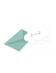 8 inviti per festa color menta con nuvoletta