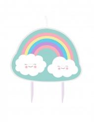 Candelina di compleanno nuvoletta ed arcobaleno