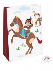 4 sacchetti regalo tribù indiani con adesivi