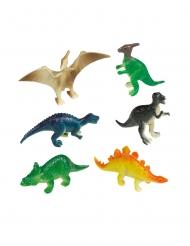 8 mini statuine dinosauri