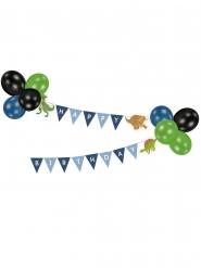 Ghirlanda Happy Birthday con palloncini grandi dinosauri