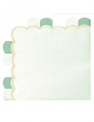 16 tovaglioli di carta smerlati verde pastello