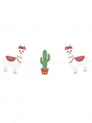 Ghirlanda in cartone lama colorati e cactus