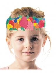 6 coroncine floreali in cartone per bambini