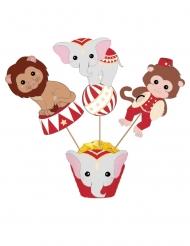 3 decorazioni per torta Vintage Circus