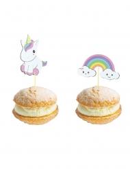 10 stecchini decorativi baby unicorno