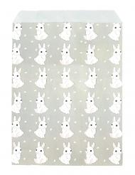 25 sacchetti di carta grigi coniglietti