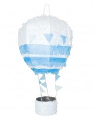 Pignatta mongolfiera bianca e blu