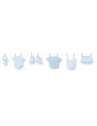 Ghirlanda fai da te in cartone bebè blu