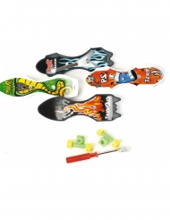 Mini skateboard in plastica