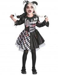 Costume arlecchino horror bambina