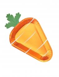 8 maxi piatti in cartone carota