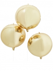 Palloncino rotondo gigante oro metallizzato