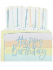 16 tovaglioli di carta torta di compleanno pastello iridescente