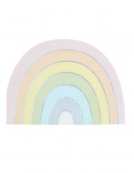 16 tovaglioli di carta arcobaleno pastello