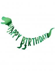 Ghirlanda in cartone dinosauro verde metallizzato