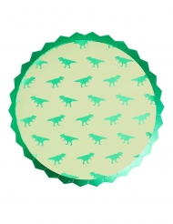 8 piatti in cartone dinosauri verdi 23 cm
