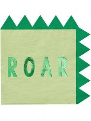 16 tovaglioli di carta dinosauro verde