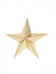 2 stelle in cartone 3D bianco e oro