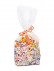 10 maxi sacchetti in plastica con effetto pizzo