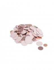 Coriandoli color rosa metallizzato e brillantini