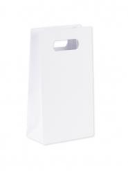 6 sacchetti di carta bianchi