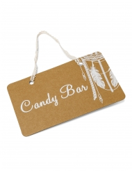 Pannello Candy Bar kraft con pizzo