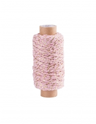 Bobina di corda rosa e oro