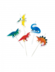 5 candeline piccoli dinosauri
