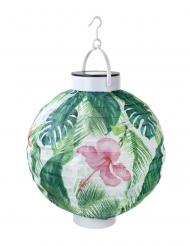 Lanterna di carta solare con motivo tropical