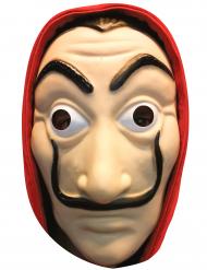 Maschera in cartone piatto da ladro adulto