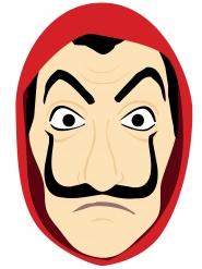 Maschera in cartone da ladro per adulto