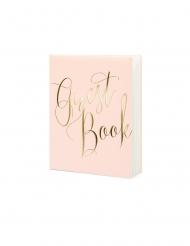 Guest book rosa e oro
