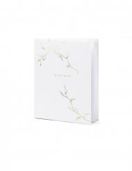 Guest book bianco con rami oro