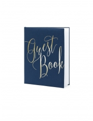 Guest book blu e bianco