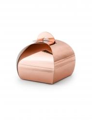 10 scatole in cartone color oro rosa metallizzato