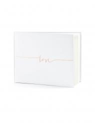 Libro per firme bianco love oro rosa
