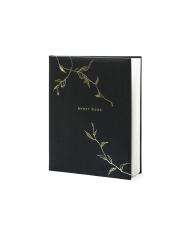 Libro per firme nero e oro Guest Book