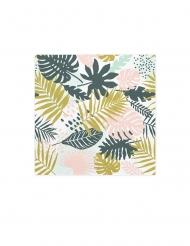 20 tovaglioli di carta con foglie verdi e blu