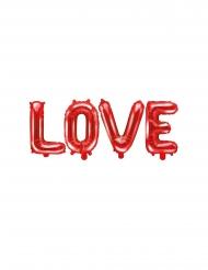 Palloncini alluminio Love rossi