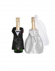 Costume e abito sposi per bottiglia