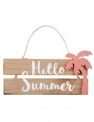 Decorazione in legno con corda Hello Summer