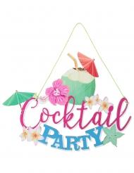 Sospensione in legno Cocktail Party