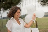 8 palloncini in lattice Just Married bianco e oro